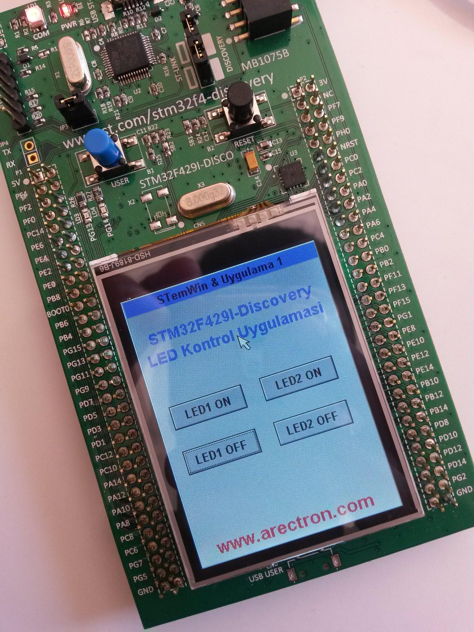 STM32F429I Discovery'de Keil ile STemWin kurulumu